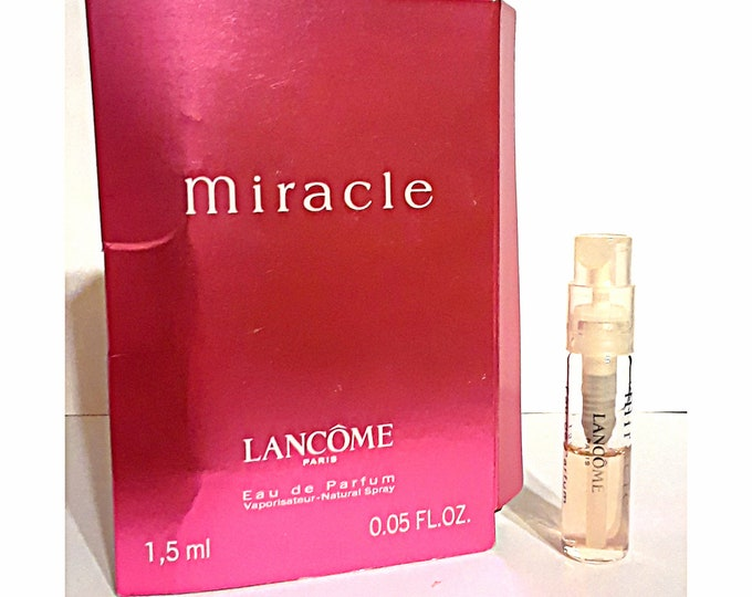 Miracle by Lancome 0.05 oz Eau de Parfum Spray Sample Vial on Card PERFUME