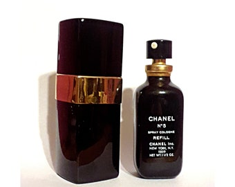 Vintage 1970s Chanel No 5 by Chanel 1.5 oz Spray Cologne EMPTY Perfume Bottle