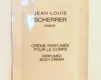 Vintage 1980s Jean-Louis Scherrer 10 ml Perfumed Body Cream Sample Packet
