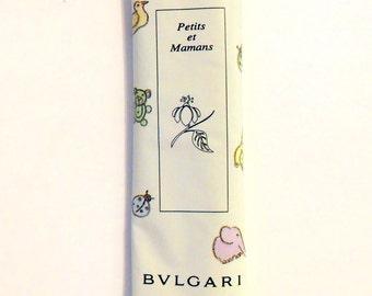 Vintage 1990s Petits et Mamans by Bvlgari 0.42 oz Oshibori Refreshing Towel PERFUME