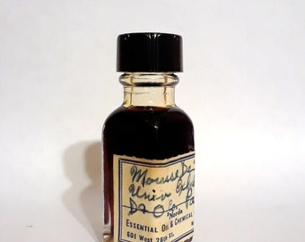 Vintage 1930s 5ml Mousse de Saxe De Laire Dodge and Olcott CLASSIC PERFUME BASE Mossy Incense Smoky Perfumery Accord