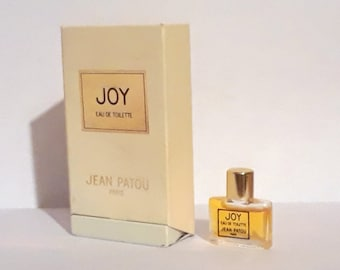 Vintage Perfume 1980s Joy by Jean Patou 0.07 oz Mini Miniature Eau de Toilette Splash & Box Classic Women's Fragrance