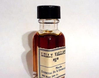 Vintage 1930s 5ml  Lilly Lily of the Valley PERFUME BASE Fragrance Creation Essential Oil Perfumery Making