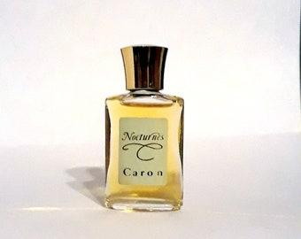 Vintage 1980s Nocturnes by Caron 0.25 oz Pure Parfum Splash Mini Miniature PERFUME