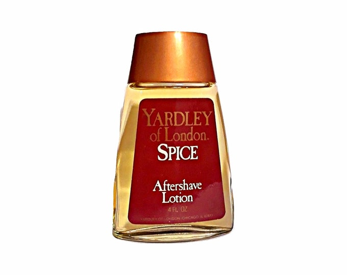 Vintage Spice Aftershave by Yardley 4 oz Lotion Splash 1980s Men's Cologne