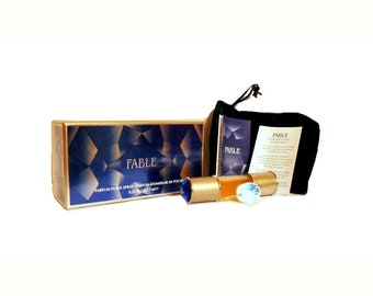 Vintage 1990s Fable by Hope Diamond Collection 0.25 oz (7.5ml) Pure Parfum Spray and Box PERFUME