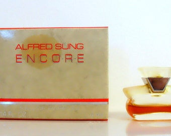 Vintage 1990s Encore by Alfred Sung 0.14 oz Eau de Parfum Splash Mini Miniature with Box PERFUME