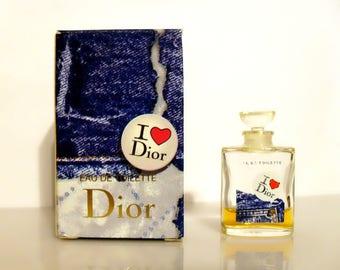 Vintage I Love Dior by Christian Dior 0.2 oz Eau de Toilette Mini Miniature Perfume and Box