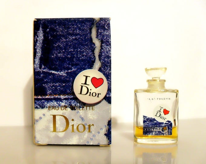 Vintage I Love Dior Perfume by Christian Dior 0.2 oz Eau de Toilette Mini Miniature Perfume and Box