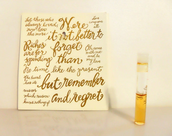 Vintage 1990s No Regrets by Alexandra de Markoff Sample Vial on Card PERFUME