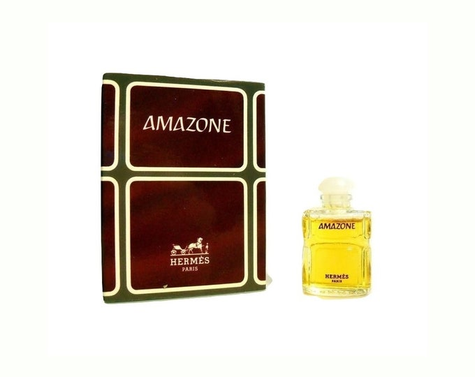 Vintage 1970s Amazone 0.16 oz Pure Parfum Splash Miniature Mini Perfume and Box