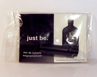 Vintage 1990s CK be by Calvin Klein Eau de Toilette Splash Sample Vial and Magnet PERFUME COLOGNE
