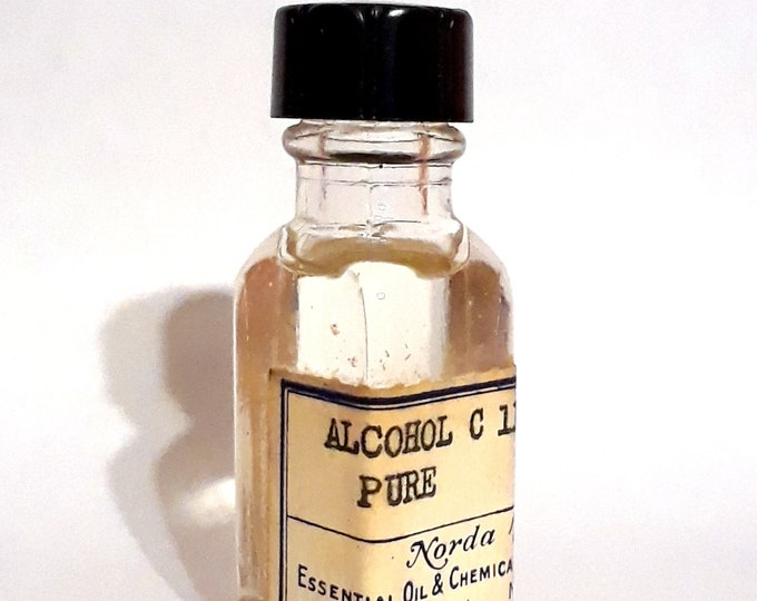 Vintage 1930s 5ml Alcohol C11 Pure PERFUME BASE Soapy Waxy Floral Ozone Aldehyde Fragrance Creation Essential Oil Perfumery Making