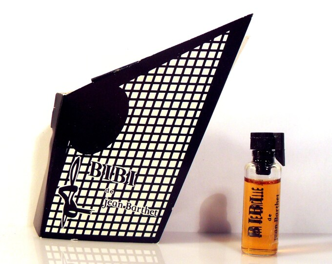 Vintage 1980s Bibi by Jean Barthet 0.06 oz Eau de Toilette Sample Vial on Card PERFUME
