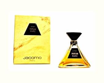 Vintage 1980s Parfum Rare by Jacomo 0.25 oz  (7.5ml) Pure Parfum Extrait & Box PERFUME