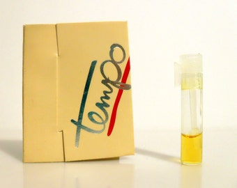 Vintage 1980s Tempo by Avon  Cologne Sample Vial on Card PERFUME