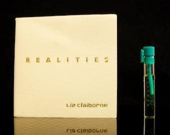 Vintage 1980s Realities by Liz Claiborne 0.034oz Sample Vial on Card PERFUME