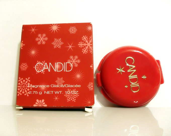 Vintage Candid Perfume by Avon 0.10 oz Fragrance Glace Solid Compact with Box 2003