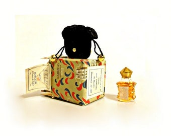 Vintage Perfume 1940s L'Elu by Marquay 1/8 oz (4ml) Pure Parfum in Velvet Pouch with Box Miniature Mini Discontinued Women's Fragrance