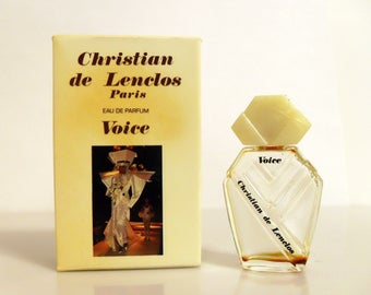 Vintage 1980s Voice by Christian de Lenclos 0.17 oz Eau de Parfum Splash Mini Perfume and Box