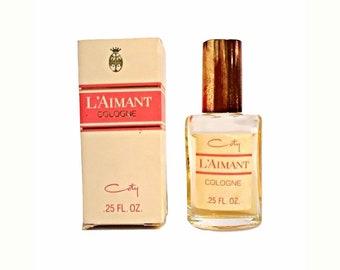 Vintage 1960s L'Aimant by Coty 0.25 oz Cologne Splash Mini Miniature Perfume and Box Original Formula