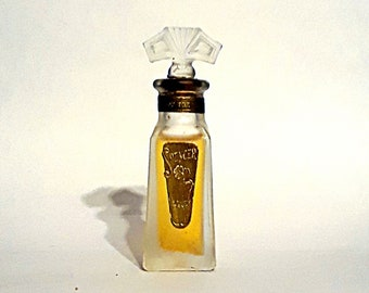 Antique 1920s Lily of the Valley by Spencer Art Deco Vintage American Glass Perfume Bottle