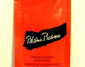 Vintage 1990s Paloma Picasso 0.17 oz Smoothing Perfumed Body Cream Sample Packet