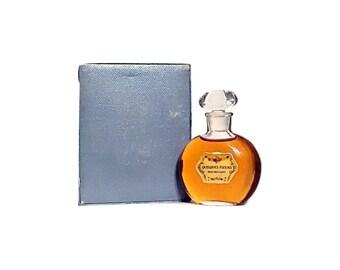 Antique 1930s Quelques Fleurs by Houbigant 1 oz Pure Parfum (30ml) Splash and Box VINTAGE PERFUME