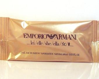 Vintage 1990s Emporio Armani Lei 0.05 oz Eau de Toilette Spray Sample Vial PERFUME