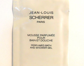 Vintage 1980s Jean-Louis Scherrer 10 ml Perfumed Shower Gel Sample Packet
