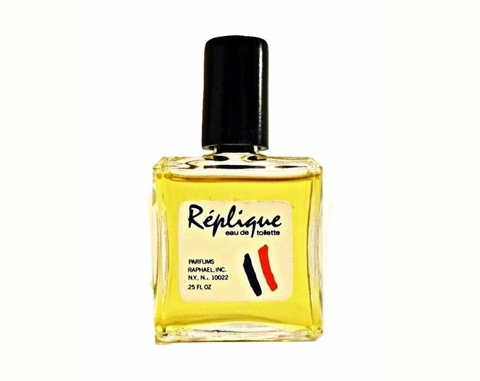 Vintage 1980s Replique by Raphael 0.25 oz Eau de Toilette Miniature Mini PERFUME