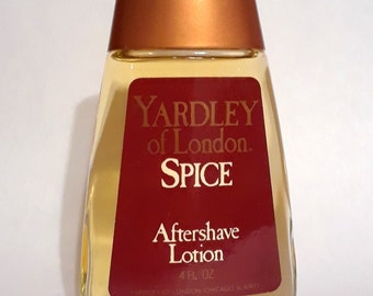 Vintage 1980s Spice by Yardley 4 oz Aftershave Lotion Splash Men's Cologne