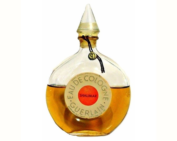Vintage 1950s Shalimar 3 oz (89ml) Eau de Cologne Splash Sealed PERFUME