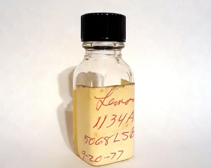 Vintage 1970s 12ml Lemon PERFUME BASE Accord Creation Essential Oil Perfumery Making