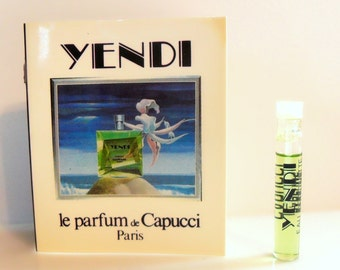 Vintage 1980s Yendi by Capucci 1.6 ml Eau de Toilette Sample Vial on Card PERFUME