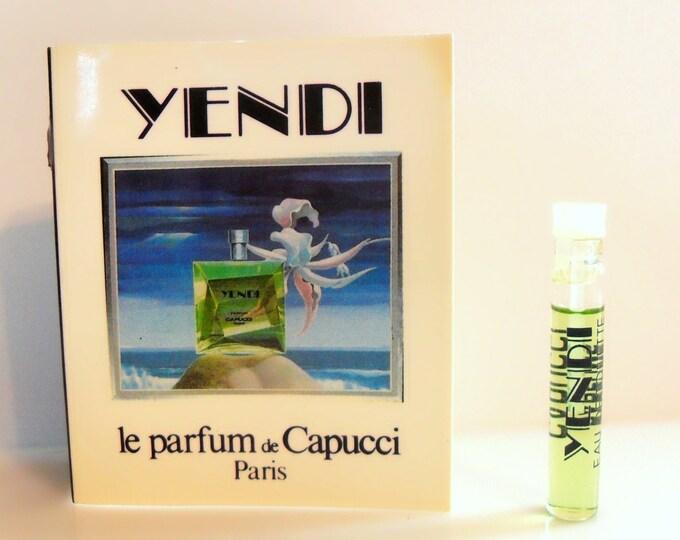 Vintage 1980s Yendi by Capucci 1.6 ml Eau de Toilette Sample Vial on Card PERFUME