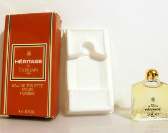 Vintage 1990s Heritage 0.13 oz Eau de Toilette Miniature Mini COLOGNE