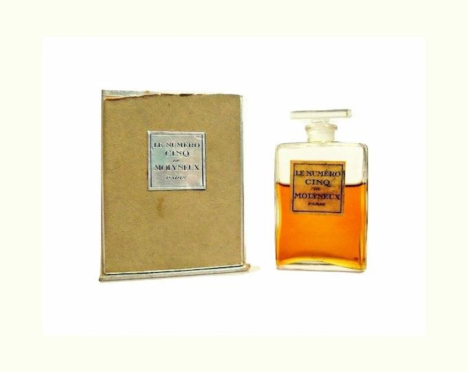 Antique Le Numero Cinq Perfume de Molyneux 0.5 oz (15ml) Extrait Pure Parfum Vintage 1920s Discontinued