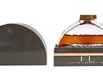 Vintage Perfume 1980s KL by Karl Lagerfeld 0.25 oz (7.5ml) Pure Parfum Splash and Box Discontinued