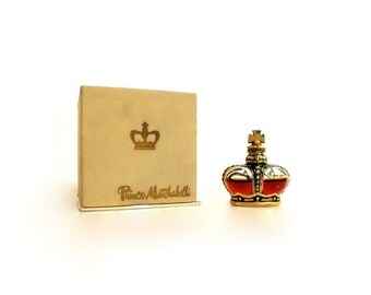 Vintage 1940s Crown Jewel by Prince Matchabelli 0.25 oz (7.5ml)Pure Parfum and Box PERFUME