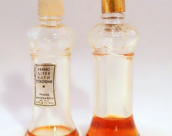 Clearance Pair Vintage 1960s Abano by Prince Matchabelli 1/8 oz Cologne Splash Sceptre Bottles PERFUME