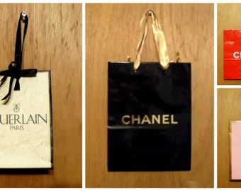Vintage 1990s Perfume Promotional Paper Shopping Bag Designer Fragrance Collectible YOUR CHOICE