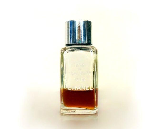 CLEARANCE Vintage 1970s Chanel No. 19 by Chanel 0.13 oz Eau de Toilette Splash Mini Perfume Bottle