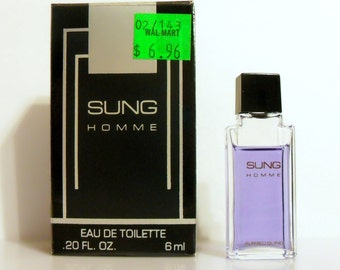 Vintage 1980s Sung Homme by Alfred Sung 0.20 oz Eau de Toilette Mini  Miniature COLOGNE