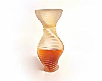 Vintage 1990s Montana Parfum de Peau 3.4 oz (100ml) Eau de Toilette Splash Frosted Glass Bottle PERFUME