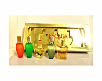 Vintage 1990s Escada Assorted Mens & Womens Mini Perfume Miniature Cologne YOUR CHOICE