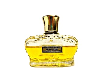 Vintage 1950s Wind Song by Prince Matchabelli 1 oz Cologne Parfumee Crown Bottle PERFUME