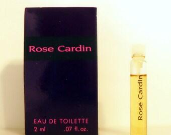 Vintage 1990s Rose Cardin by Pierre Cardin 0.07 oz oz Eau de Toilette  Sample Vial on Card PERFUME