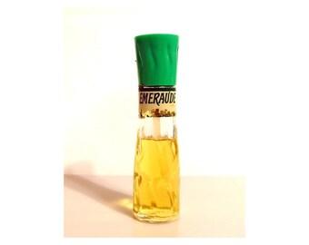 Vintage Perfume 1960s 1970s Emeraude by Coty 2 oz Flacon Mist Cologne Classic Women's Fragrance