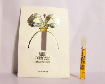 Vintage 1990s White Diamonds by Elizabeth Taylor 1.5ml Eau de Parfum Splash Sample Vial PERFUME